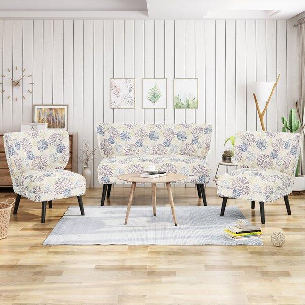 Best Price Swope 3 Piece Living Room Set