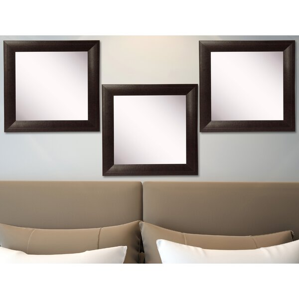 Hille Leather Wall Mirror (Set of 3) by Winston Porter