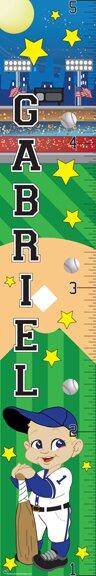 Baseball Boy Growth Chart by Mona Melisa Designs