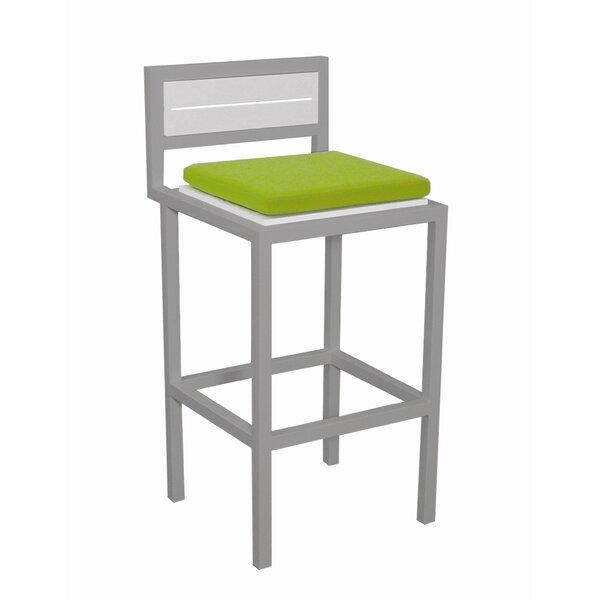 Talt 29.5 Patio Bar Stool with Cushion by Modern Outdoor