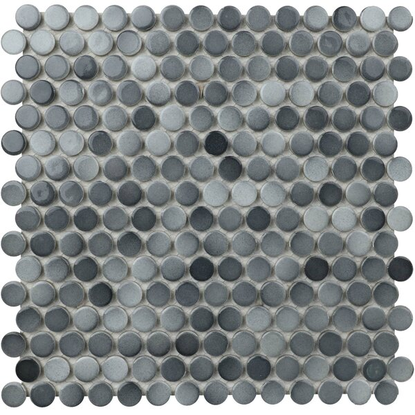 Value Series 0.8 x 0.8 Porcelain Mosaic Tile in Glossy Gray by WS Tiles