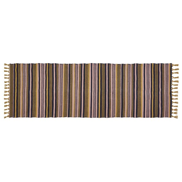 Power Loom Multi Purple/Yellow/Green Rug