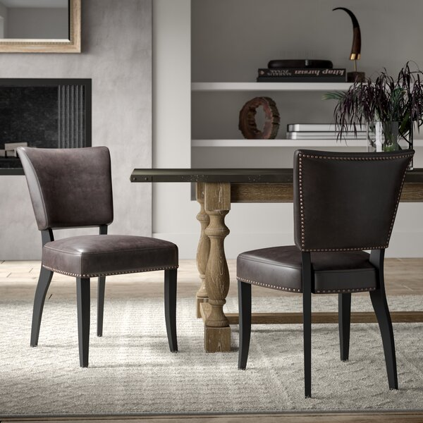 #2 Vicki Upholstered Dining Chairs (Set Of 2) By Greyleigh Great price