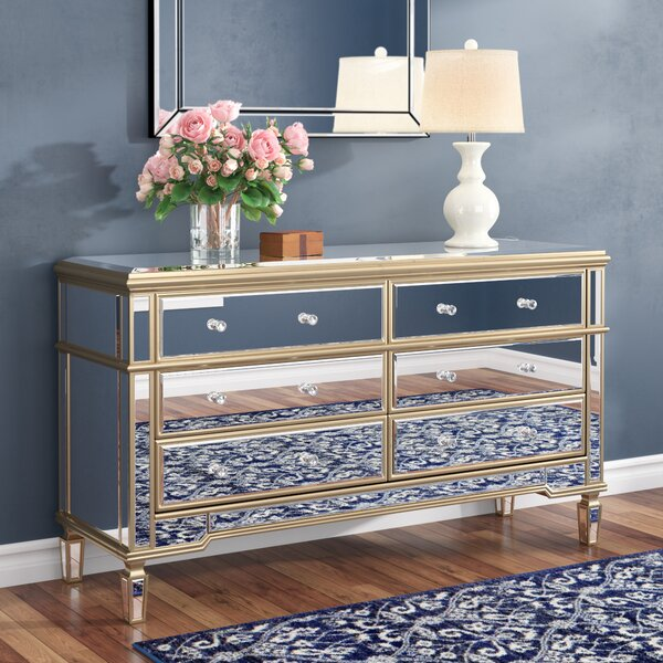 Gambrell Mirror 6 Drawer Standard Dresser/Chest By Everly Quinn