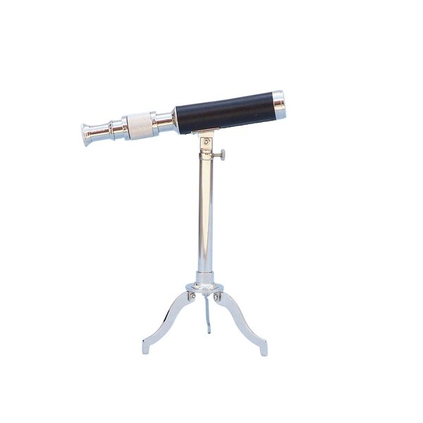 Floor Standing Leather Refractor Telescope by Hand