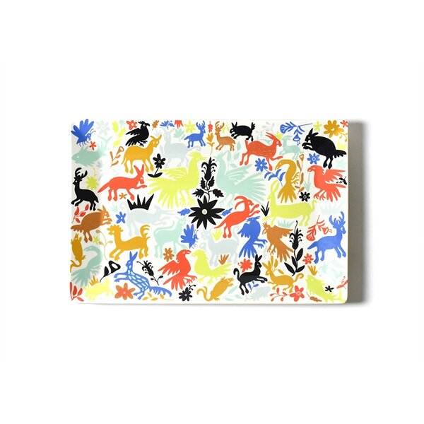 Restored Retro Otomi Rectangle Platter by Coton Colors