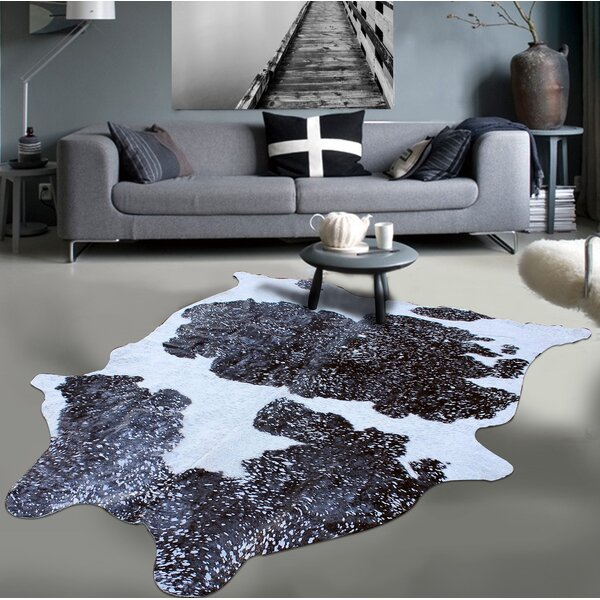 Gleaming Acid Wash Soft Silver/Black/White Area Rug by Rug Factory Plus