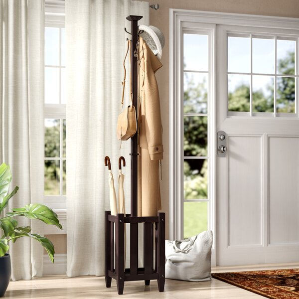 Govea Coat Tree and Umbrella Rack by Three Posts