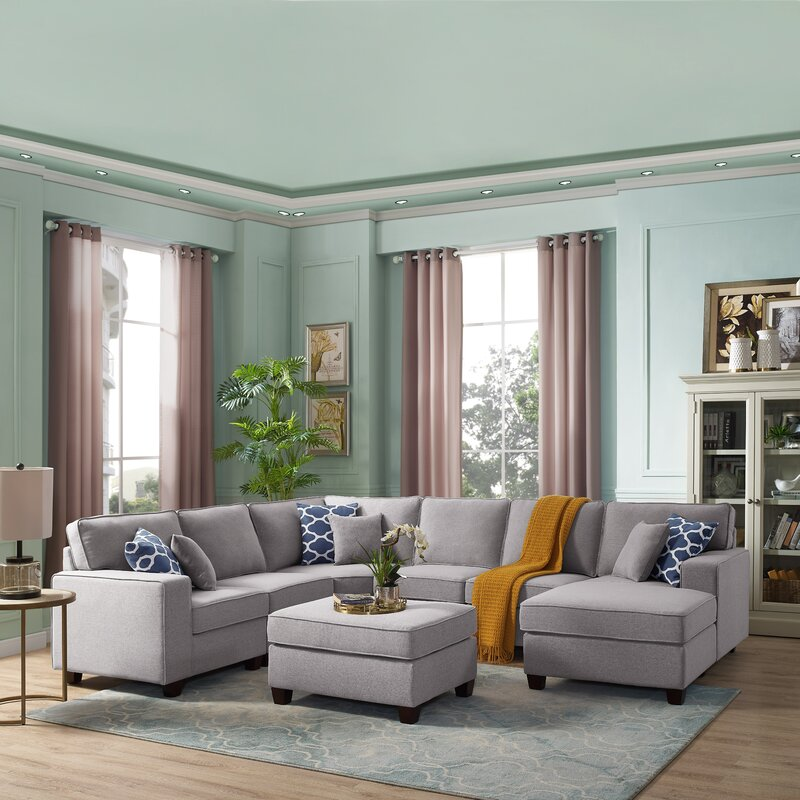 Samual Right Hand Facing Modular Sectional With Ottoman by Latitude Run