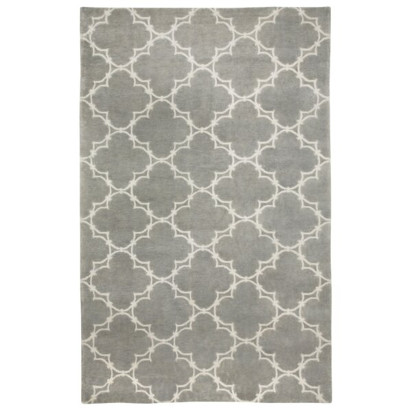 Cococozy Light Charcoal/Cream Geometric Area Rug by Capel Rugs