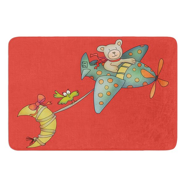I Will Bring You The Moon by Carina Povarchik Bath Mat by East Urban Home
