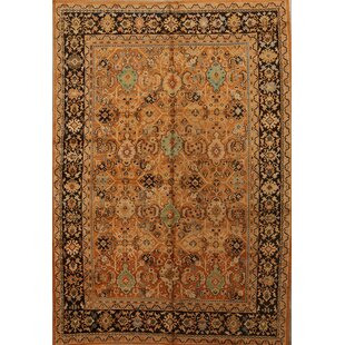 Comparison One-of-a-Kind Mazzeo Traditional Mahal Sarouk Ziegler Persian Hand-Knotted 7'2 x 10'3 Wool Brown/Black Area Rug By Isabelline