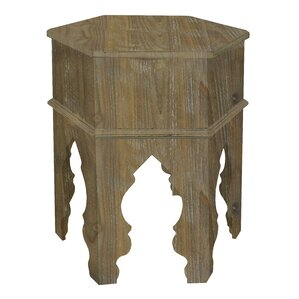 Three Hands Co. Wood Moroccan Inspired End Table Image