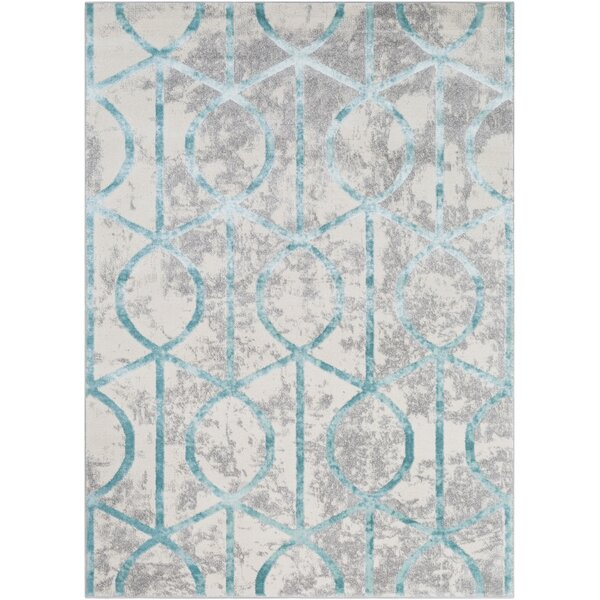 Salazar Transitional Geometric Ivory Area Rug by Mercer41