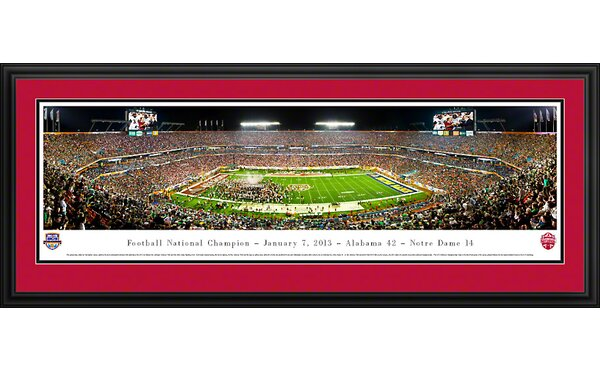 NCAA BCS Football Championship 2013 Deluxe Framed Photographic Print by Blakeway Worldwide Panoramas, Inc