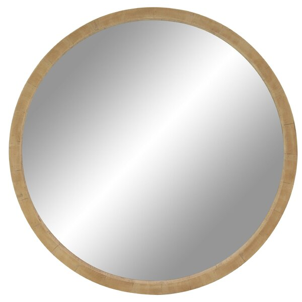 Leticia 40 Rustic Round Accent Mirror by Corrigan