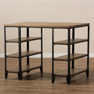 Buying Marcella Metal and Distressed Wood Writing Desk By Gracie Oaks