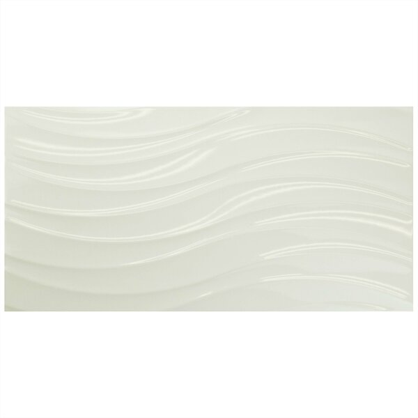 Silhouette 12.38 x 24.88 Ceramic Field Tile in White by EliteTile