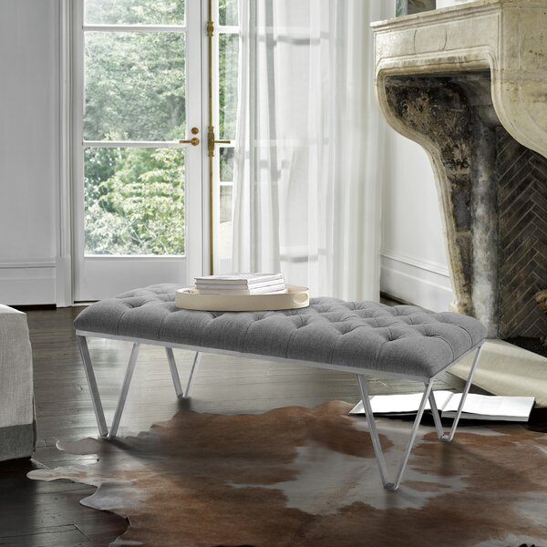 Klar Contemporary Tufted Bench by Everly Quinn