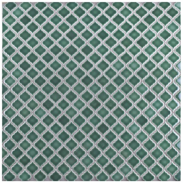 Pharsalia 12.38 x 12.5 Porcelain Mosaic Floor and Wall Tile in Emerald by EliteTile