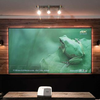 Aeon CLR Series White Fixed Frame Projection Screen By Elite Screens