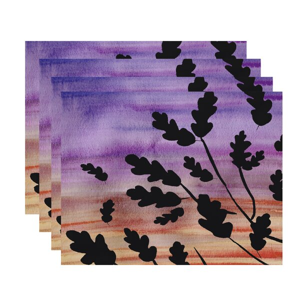 Laperle Flowing Leaves Floral Print 18 Placemat (Set of 4) by Winston Porter