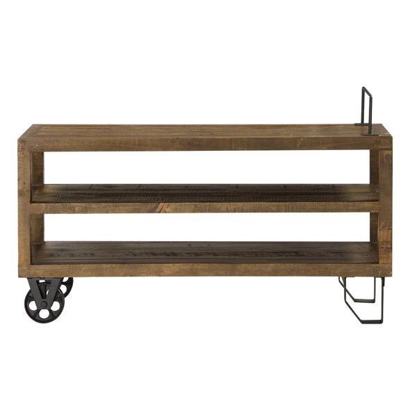 Deals Price Melksham 2 Tier Pine Wood Console Table