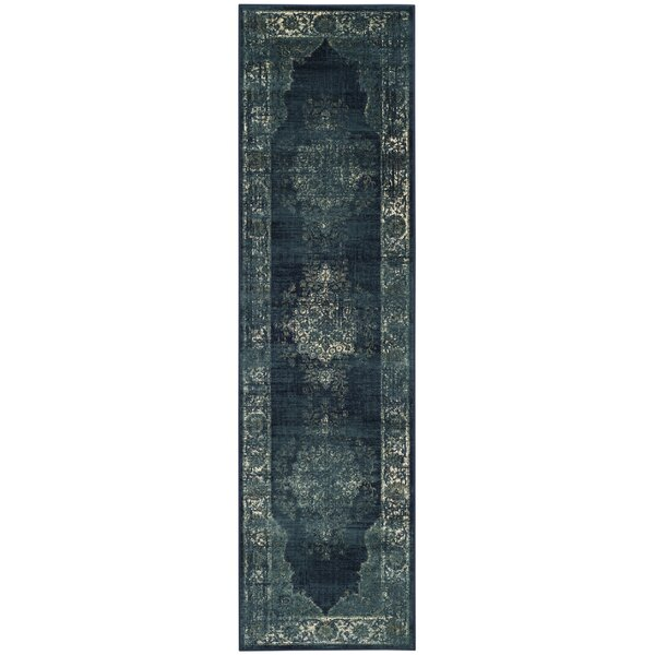 Moores Vintage Navy Area Rug by Bungalow Rose