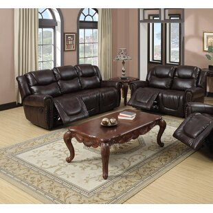 Hopland 2 Piece Faux Leather Reclining Living Room Set by Winston Porter