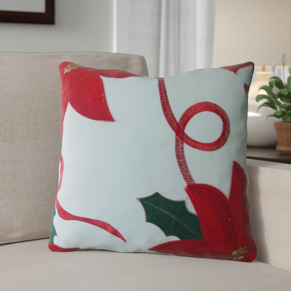 Bloomy Decorative Christmas Throw Pillow by The Holiday Aisle