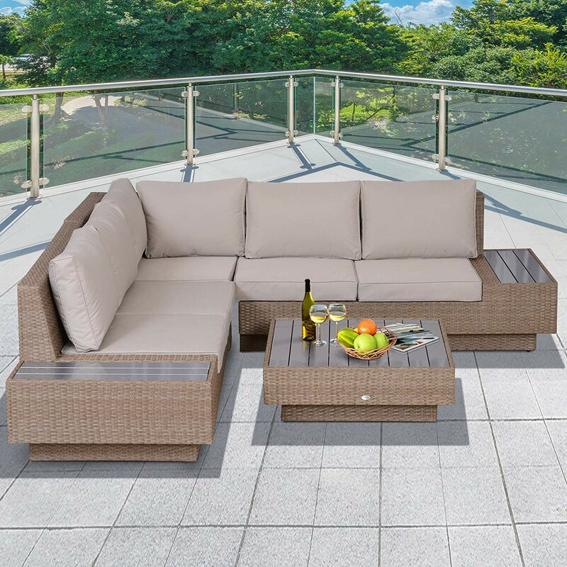Sol 72 Outdoor Alta 5 Seater Rattan Corner Sofa Set ...