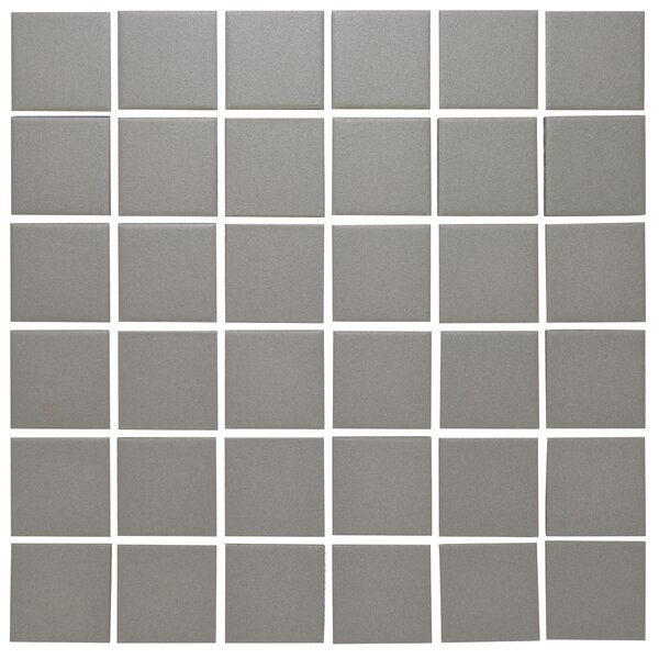 London 2 x 2 Porcelain Mosaic Tile in Gray by The Mosaic Factory