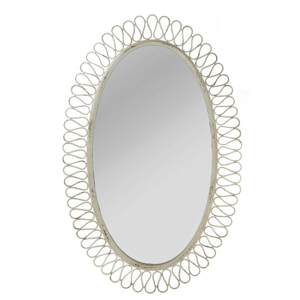 Distressed Oval Wall Mirror by CBK