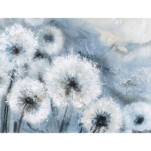 'Wishes' Watercolor Painting Print on Canvas in Blue by Latitude Run
