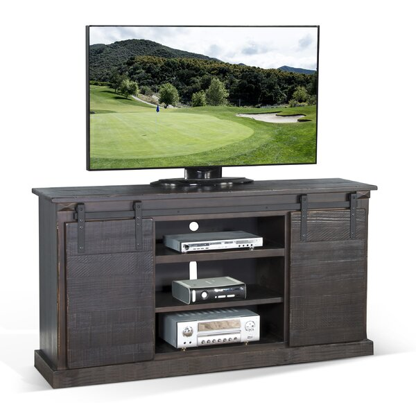 Eli Solid Wood TV Stand For TVs Up To 24