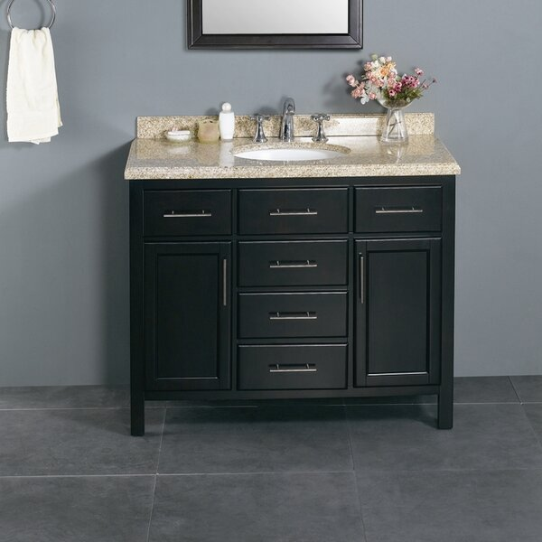Milan 42 Single Bathroom Vanity Set by Ove Decors
