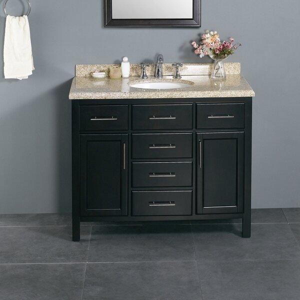 Milan 42 Single Bathroom Vanity Set by Ove Decors