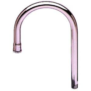 T&S Brass Rigid Gooseneck Spout Pot Filler Faucet with Plain Tip