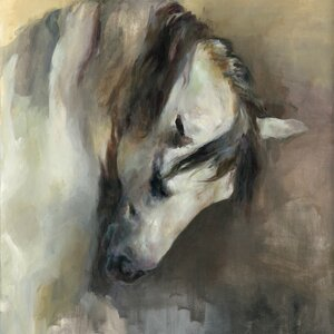 Classical Horse Painting Print on Wrapped Canvas by Laurel Foundry Modern Farmhouse