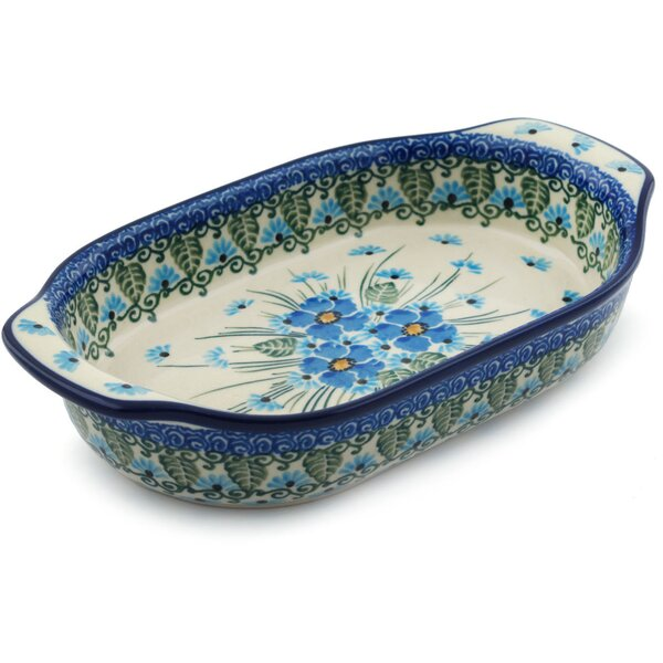 Forget Me Not Non-Stick Oval Baker by Polmedia