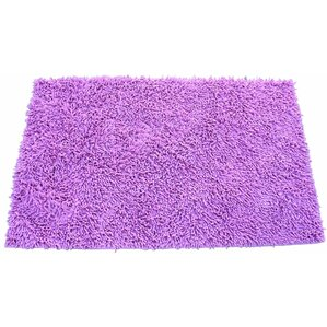 Chenille Hot Pink Area Rug