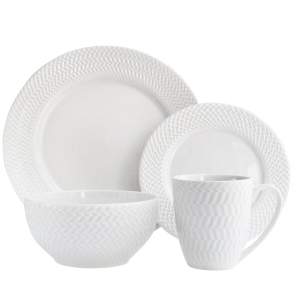 Bridgette 16 Piece Dinnerware Set by Elle Decor