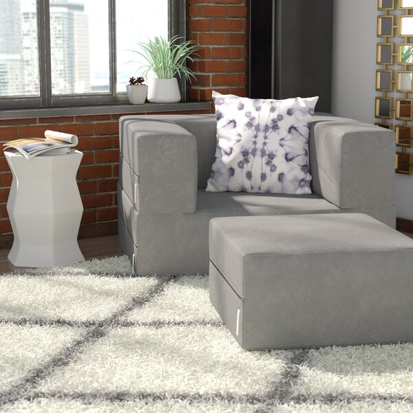 Eugene Convertible Chair and Ottoman by Zipcode Design