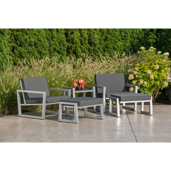 Vero 5 Piece Sunbrella Conversation Set with Cushions by Elan Furniture