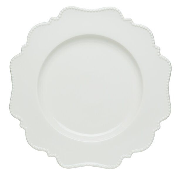 Pinpoint White Round Serving Platter by Red Vanilla