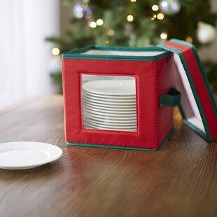 Wayfair Basics Holiday Dessert Plate & Bowl Storage Chest