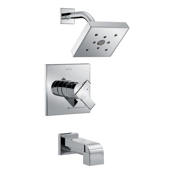 Ara Diverter Tub and Shower Faucet with H2okinetic Technology by Delta