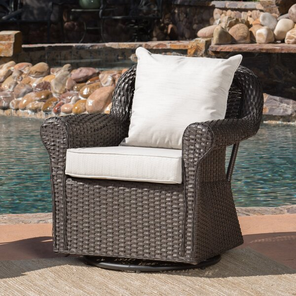 Cecilio Outdoor Swivel Rocking Chair by Darby Home Co