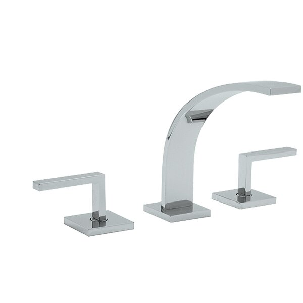 ROHL® Wave™ Widespread Lavatory Faucet with Lever Handles in Satin Nickel