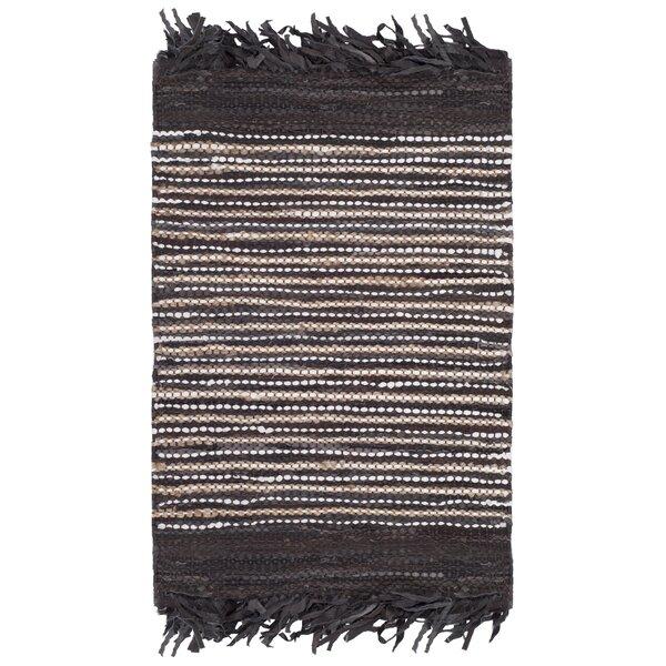 Swayze Hand Tufted Dark Brown Area Rug by Mistana